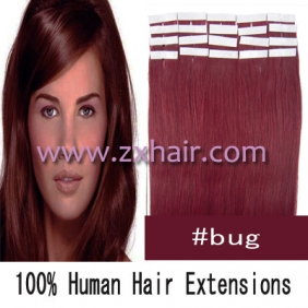 "24"" 70g Tape Human Hair Extensions #bug"