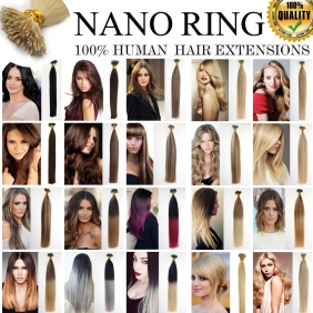 "UK Stock 28 Colors Double Drawn 50S 16""-22"" Nano hair 1g/s human hair extensions"